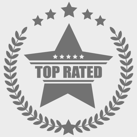 a top rated star icon badge