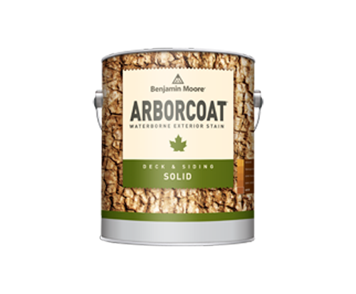 a can of arborcoat paint by benjamin moore