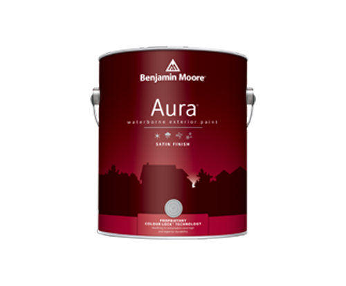 a can of aura paint by benjamin moore