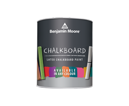 a can of chalkboard paint by benjamin moore