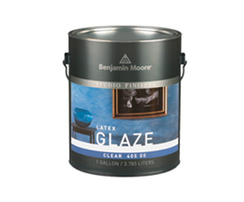 a can of studio finish glaze by benjamin moore