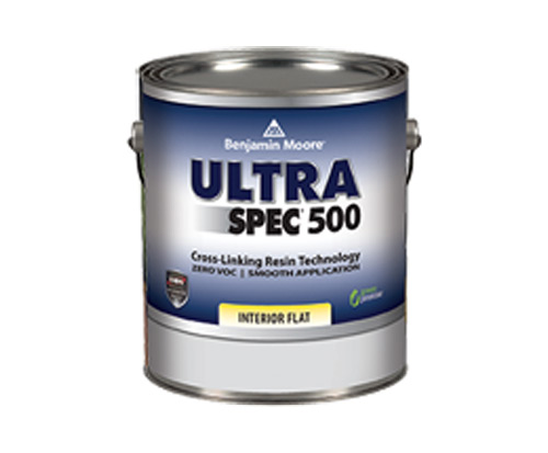 a can of ultra spec paint by benjamin moore